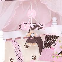 Móbile Para Quarto De Bebê Menina Coleção Ursa Florista