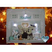 Quadro Porta De Maternidade Ursinhos Pelúcia C/ Iluminação
