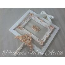Quadro Decorativo Quarto Bebê Coroa Moldura Provençal Strass