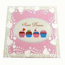 Quadro Decoupage Cupcake Decoração Quarto Bebe Bluberry