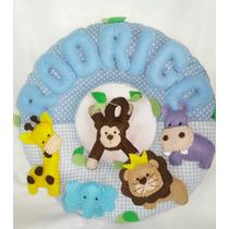 Enfeite Porta Maternidade Safari Azul