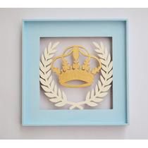 Quadro Decorativo Coroa Recém Nascido