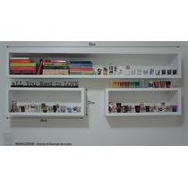 Kit 3 Peças Nichos Retangulares 90x30/40x30 - 15cm Prof Mdf