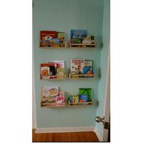Prateleira Pra Livros Infantil Em Mdf Cru - 60x15x10