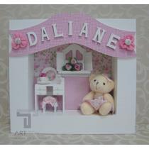 Enfeite Porta Maternidade Quadro Ursa/urso/com Nome Bebê