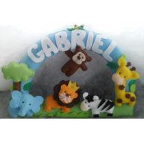 Enfeite Porta Maternidade Safari Gabriel