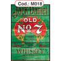 Quadros Grande Jack Daniels Em Madeira Estilo Rústico