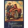 Triciclo Homem Mulher Harley Davidson Poster Repro