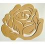 Enfeite Decorativo Em Mdf. Flores Rosa