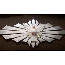 Resplendor Divino Espiriro Santo De Madeira 80 X 35cm