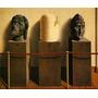 Pintura Abstrata Esculturas Rostos Pintor Magritte Tela Repr
