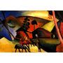 Arte Abstrata Índios Cavalo 1911 Pintor Kandinsky Tela Repro