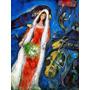 La Mariee Pintura Abstrata Pintor Chagall Grande Tela Repro