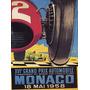 Cartaz Poster Vintage Corrida Carro Automovel Monaco 1958
