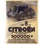 Cartaz Poster Vintage Citroen Corrida Carro Antigo Automovel