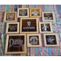 Quadro Decoração Marcas De Cerveja
