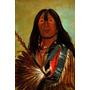 Índio Valente Americano Flecha 1832 Pintor Catlin Tela Rep