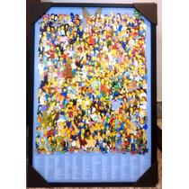 Quadro Decorativo De Parede 95x65cm C/ Moldura Homer Simpson
