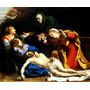 Virgem Maria Com Jesus Cristo Morto Pintor Carracci Tela Rep