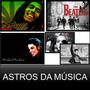 Quadros Astros Da Música The Beatles, Michael Jackson, Elvis