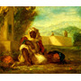 Árabe Vendedor De Laranjas Pintor Delacroix Tela Repro
