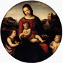 Nossa Senhora Jesus Cristo Anjos Reproducao Raphael Na Tela