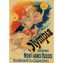 Olympia Mulher Dança Festa Colorido Pintura Poster Repro