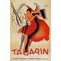 Mulher Vestido Vermelho Dança Paul Colin Poster Repro