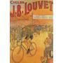 1912 Corrida Bicicleta Louvet França Antigo Poster Repro