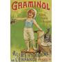 Alimento Crianca Gato França Grande Antigo Poster Repro