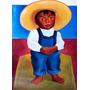 Garoto Chapeu Pintura Óleo Feita Mão Diego Rivera Repro