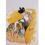 Mulher Vestido Tango Pintura Poster Repro