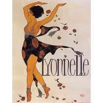 Lyonnelle Mulher Vestido Rosas Flores Poster Repro