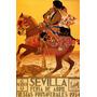 Cavalo Animal Festa Primavera Sevilha Espanha Poster Repro