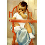 Bebê Sentado Cadeira De Alimentação Mão Na Boca Tela Repro
