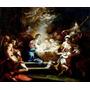 Adoração Menino Jesus Anjos Maria Pintor Conca Tela Repro