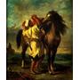 Soldado Árabe E Seu Cavalo Campo Pintor Delacroix Tela Repro