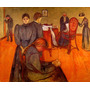 Óbito Na Enfermaria 1893 Pintura Munch Tela Repro