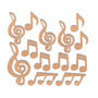 Notas Musicais Mdf Miniatura 3cm Aplique Recorte Á Laser