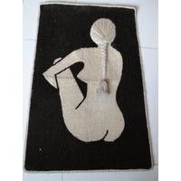 Quadro De Tecido Bordado A Mão / Cabelo 3d / Mulher Nua
