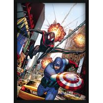 Quadro Decorativo - Homem-aranha E Capitão America