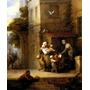 Mãe Filhos Crianças Alimento Pintor Gainsborough Tela Repro