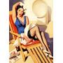 Poster Quadro Vintage Pin-ups Propagandas Antigas