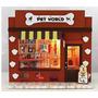 Kit Loja Pet World Shop Para Montar. Roombox