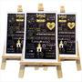Quadro Chalkboard Casamento Infantil + Cavalete