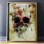 Quadro Art Impressa Caveira Skull Mexicana Photo Matte 60x80