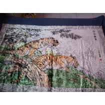 Quadro Tigre Arte Tela Panô Oriental Promoção Barato