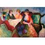 Mulheres Conversando Flores Pintura A Óleo Feita Mão Repro