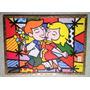 Quadro O Casal Se Beijando Releitura Romero De Britto 71x52