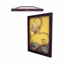 Quadro Porta Tampinha Cerveja Homer Simpson 32x44cm